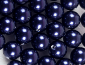 6mm SWAROVSKI® ELEMENTS Night Blue Crystal Pearl Beads - 50 pearls for jewellery making, beadwork and craft